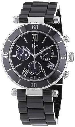 Quartz Céramique Noir Guess Montre Chronographe Mixte I43001m2s Bracelet 8wOmnv0N