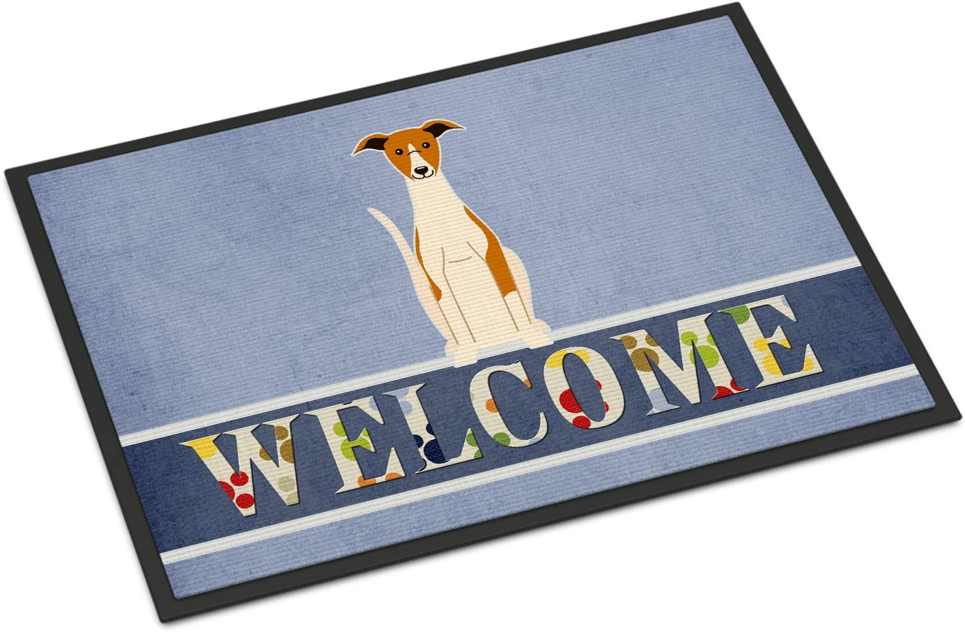 Caroline s Treasures BB5680MAT Whippet Welcome Indoor or Outdoor Mat 18×27, 18H X 27W, Multicolor