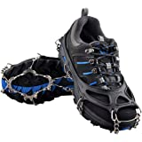 OuterStar Traction Cleats Ice Snow Grips Anti Slip 12 Stainless Steel Spikes Crampons for Footwear M/L