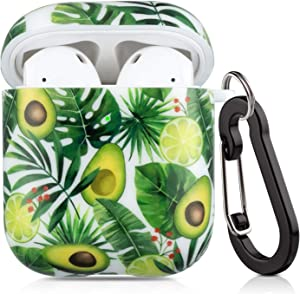 Lokigo AirPods Case Protective Cover Compatible with Apple AirPods 2 and 1 Hard Case Kits with Keychain/Strap/Earhooks/Watch Band Holder for Girls Women Men