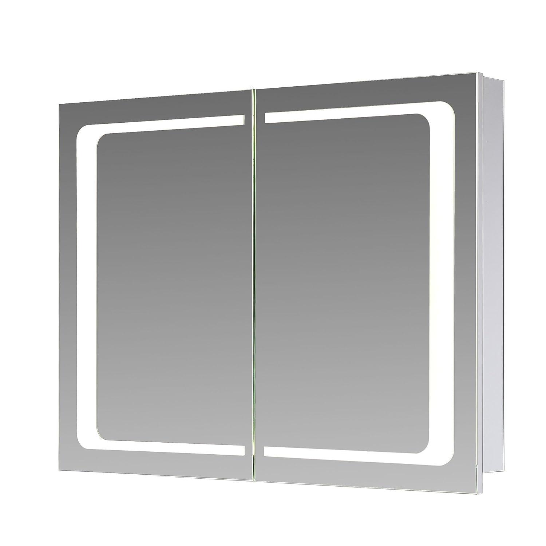 Innovativ Eurosan 2-türiger Spiegelschrank, Integrierte LED-Frontbeleuchtung  KB98