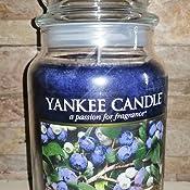 YANKEE CANDLE Candela profumata giara Blueberry al Profumo di Mirtillo Multicolore Unica