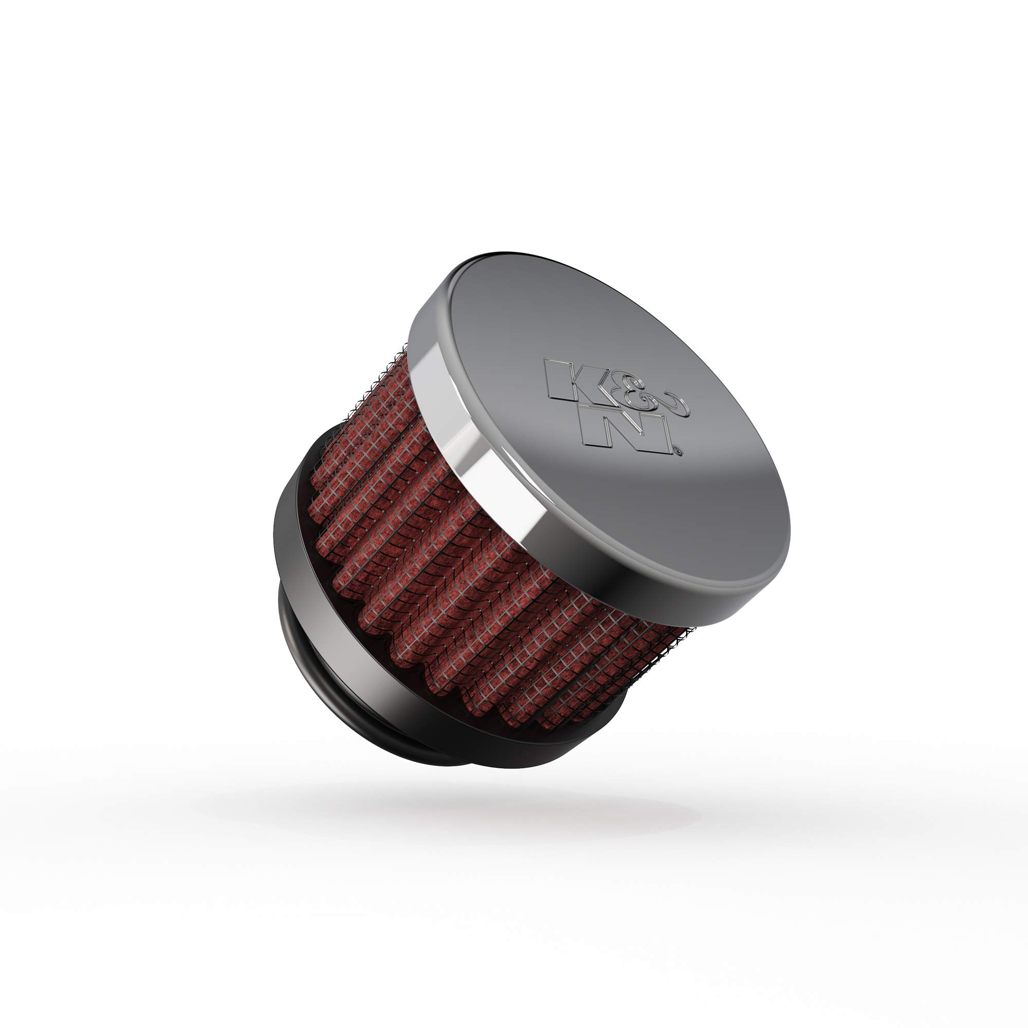 K&N Vent Air Filter/ Breather: High Performance, Premium, Washable, Replacement Engine Filter: Flange Diameter: 1 In, Filter Height: 1.5 In, Flange Length: 0.625 In, Shape: Breather, 62-1370 , Black