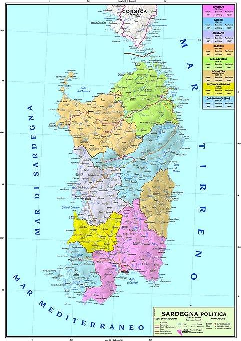 Cartina Politica Sardegna Wikipedia.Carta Geografica Murale Regionale Sardegna 100x140 Bifacciale Fisica E Politica Amazon It Cancelleria E Prodotti Per Ufficio