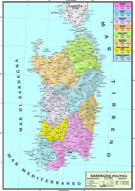 Cartina Dettagliata Sardegna.Dizionario Stereo Fardello Cartina Stradale Della Sardegna Amazon Settimanaciclisticalombarda It