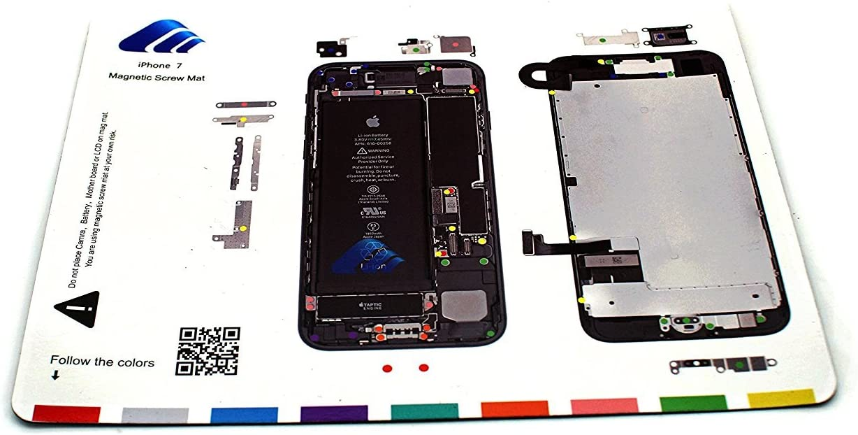 COHK Design Magnetic Project Mat Repair Guide Pad Screw Keeper Chart Map Professional Guide Pad Repair Tools for iPhone 7 Plus 5.5 inches