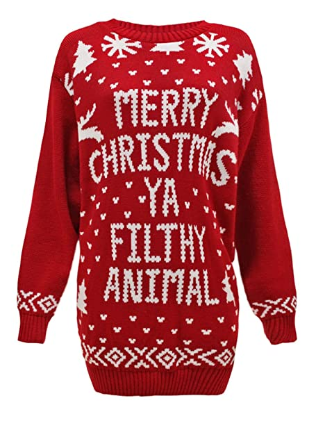 Chaos Theory Womens Plus Size Knitted Christmas Santa Reindeer