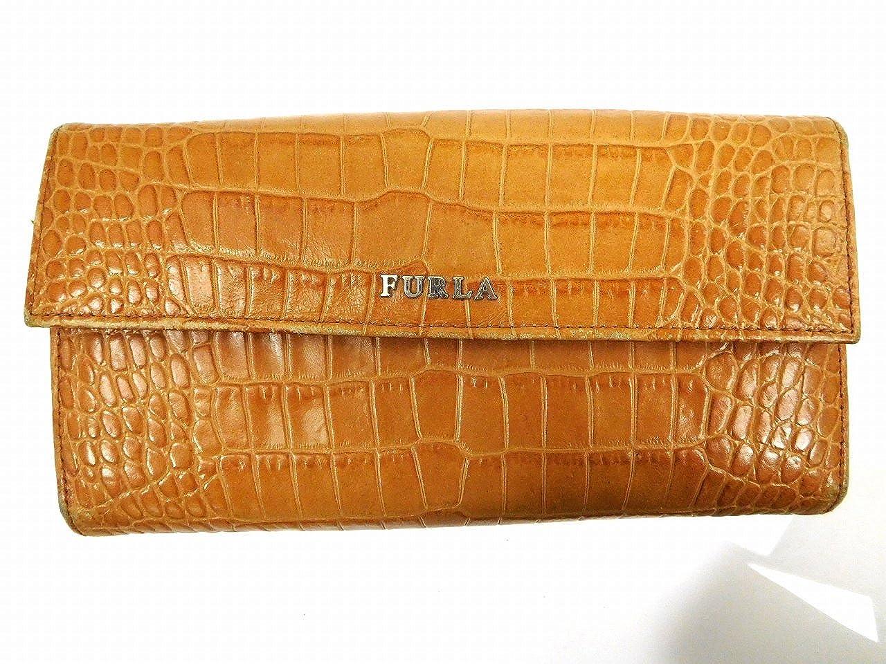 [フルラ] FURLA 長財布 クロコ型押し 型押しレザー X12391 中古   B07BF9HCNP