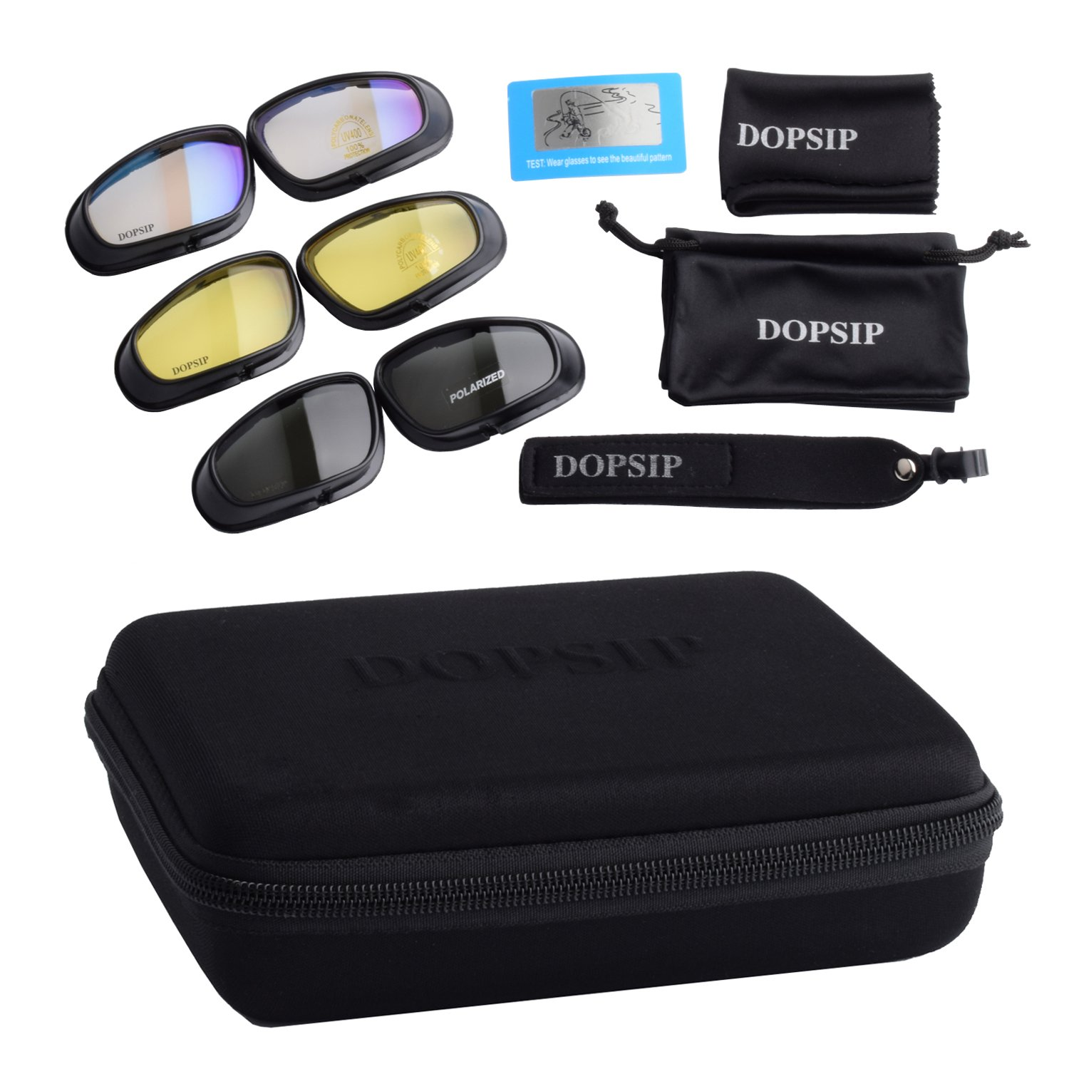 Tactical Glasses,DOPSIP Cycling Glases Protective Military Goggle with 4 Replaceable Lenses (Black) by DOPSIP (Image #6)