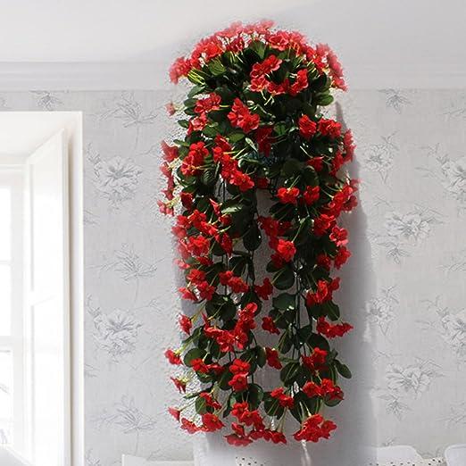 Hctina Kunstliche Pflanzen Baum Blatter Fake Garten Wand Dekoration