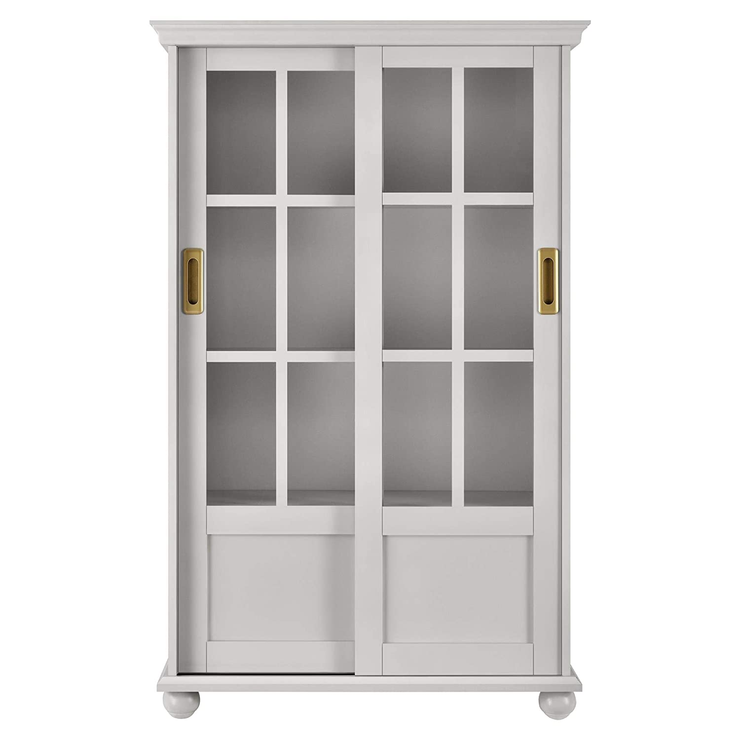 Amazon.com: Novogratz 9448319COM Magnolia Hill Bookcase, Gray: Kitchen &  Dining