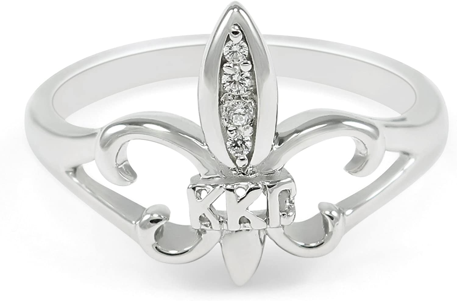 NEW!!*** Kappa Kappa Gamma sterling silver ring with cut-out letters