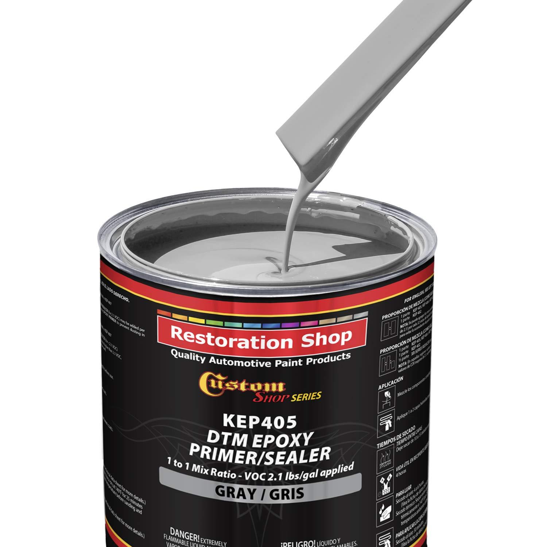Custom Shop - Gray Epoxy Primer/Sealer 2.1 VOC (1/2 Gallon Kit) Anti-Corrosive DTM High-Performance Primer for Automotive and Industrial use Kit = 1 Qt. Epoxy Primer +1 Qt. Epoxy HDR. (1-1 Mix) by Custom Shop (Image #3)