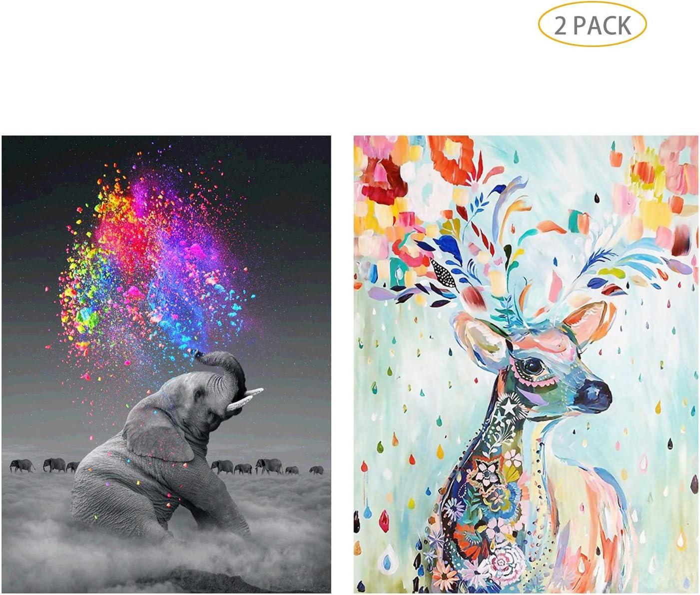Full Drill Deer Moon 5D Diamond Painting Kits for Adult Beginners