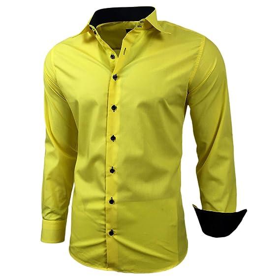 Baxboy Hombre de Camisa fácil de Planchar de Slim Fit para Traje, Business, Bodas, Tiempo Libre – Manga Larga Camisas para Hombres Camisa de Manga ...