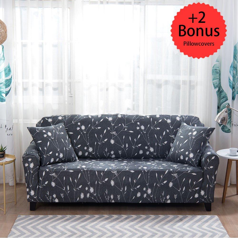 Amazon.com: Sobibo Spandex Fabric Stretch Couch Cover Slipcover for ...