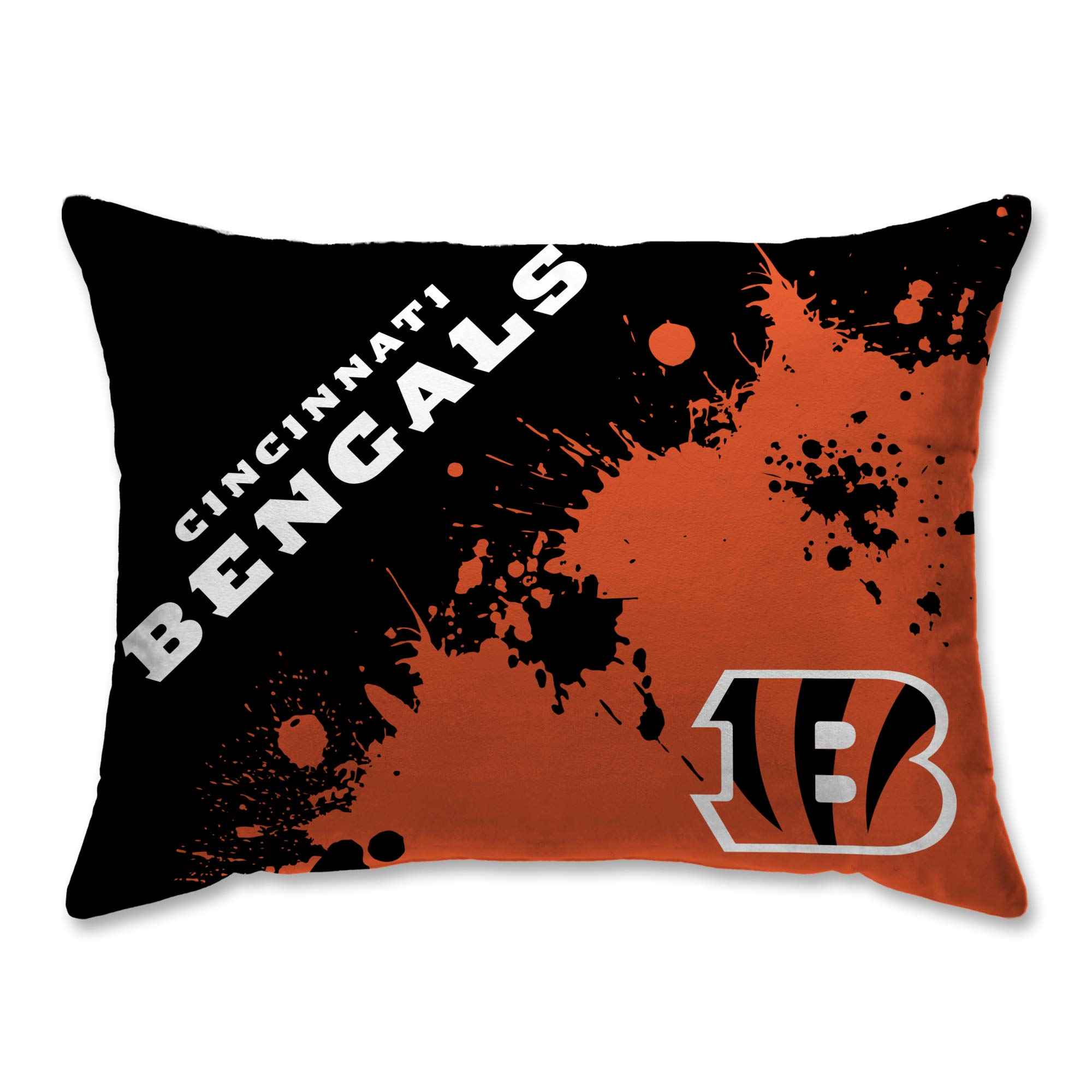 Cincinnati Bengals Splatter 20'' x 26'' Plush Bed Pillow, Set of 2#989503275 by Pegasus Sports
