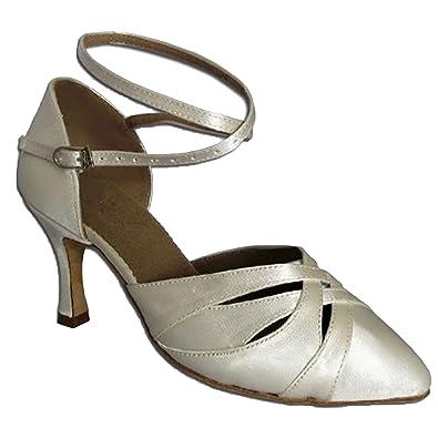 HenryG Dyeable Bridal Shoes Wedding Ballroom Dance Ivory