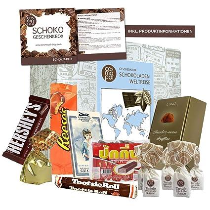Premium Geschenk Schokoladen Weltreise Zahlreiche