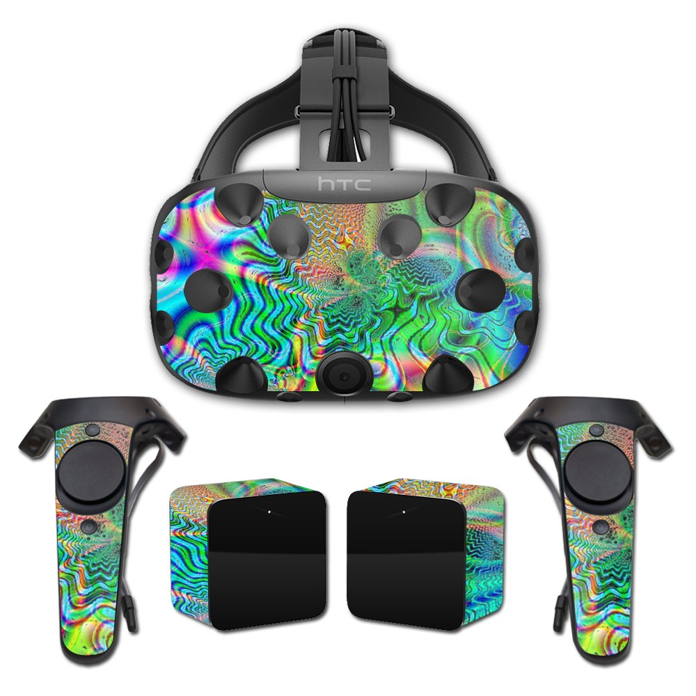 MightySkins Skin for HTC Vive Full Coverage - Psychedelic | Protective, Durable, and Unique Vinyl Decal wrap Cover | Easy to Apply, Remove, and Change Styles | Made in The USA
