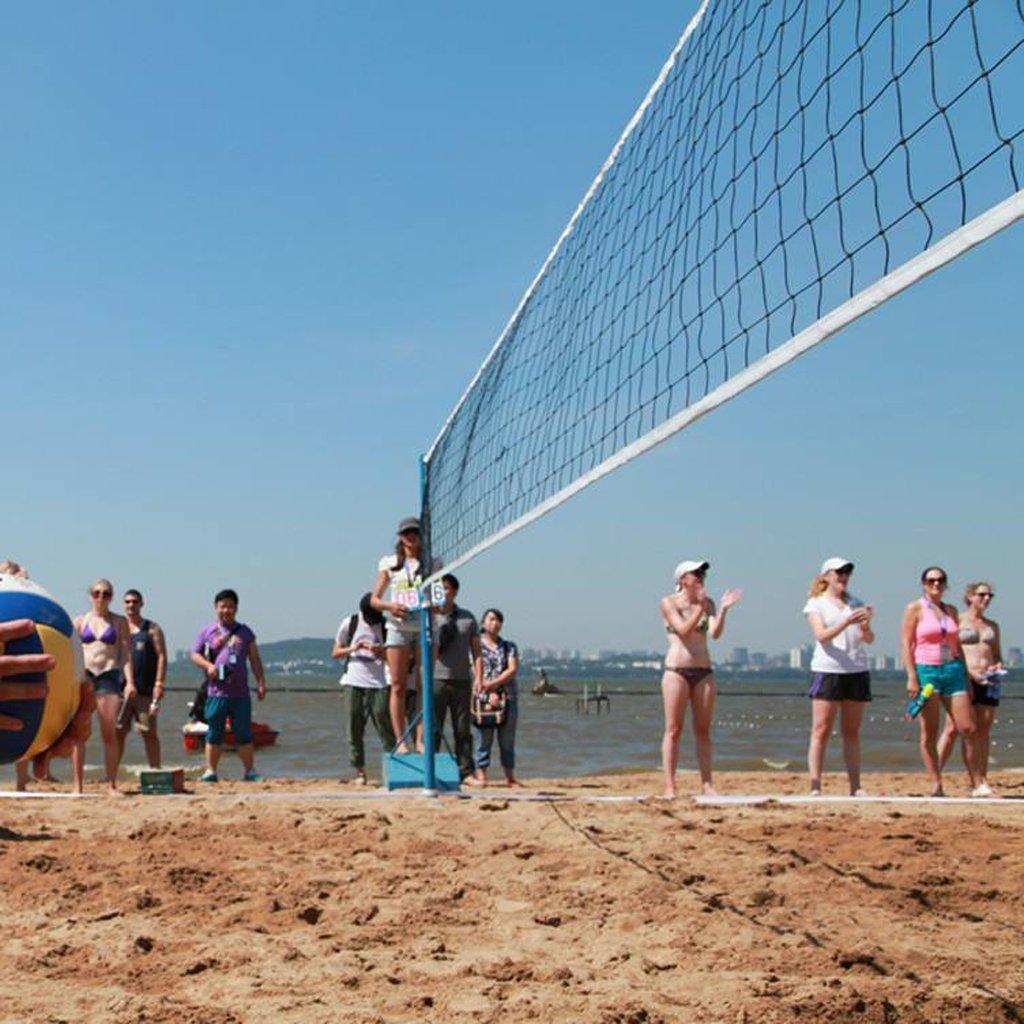 Longsw Red de Voleibol de Polietileno DE 9,5 x 1 m para Playa