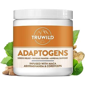 ADAPTOGENS Adrenal Support Stress Relief Blend - Ashwagandha, Maca,  Siberian Ginseng,