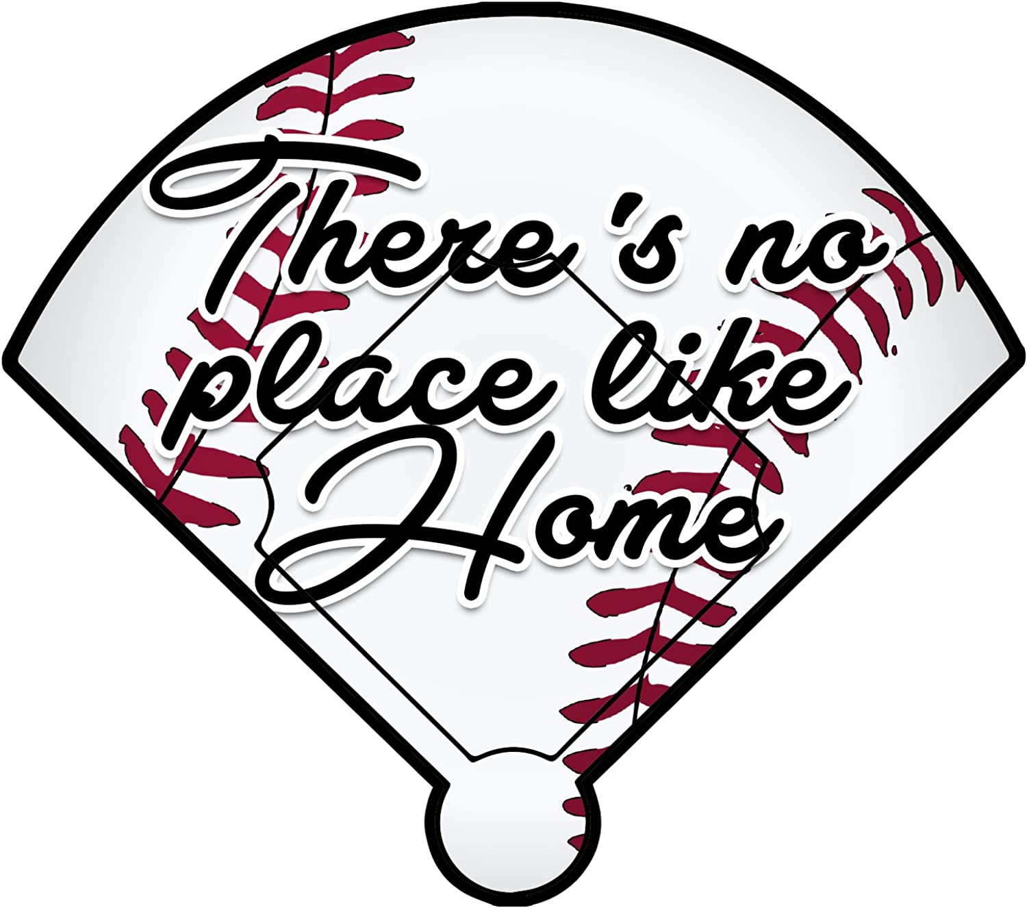 Decal Serpent Baseball There's No Place Like Home Color Vinyl Sports Car Laptop Sticker - 6