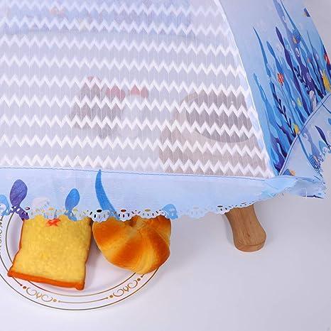 Yardwe Fliegenhaube Faltbare Abdeckhaube Fisch Muster Lebensmittel Abdeckung Obsthaube Kuchenabdeckung Fliegen Schutz f/ür Picknicks Camping BBQ Essen Grill Partys Buffets Blau