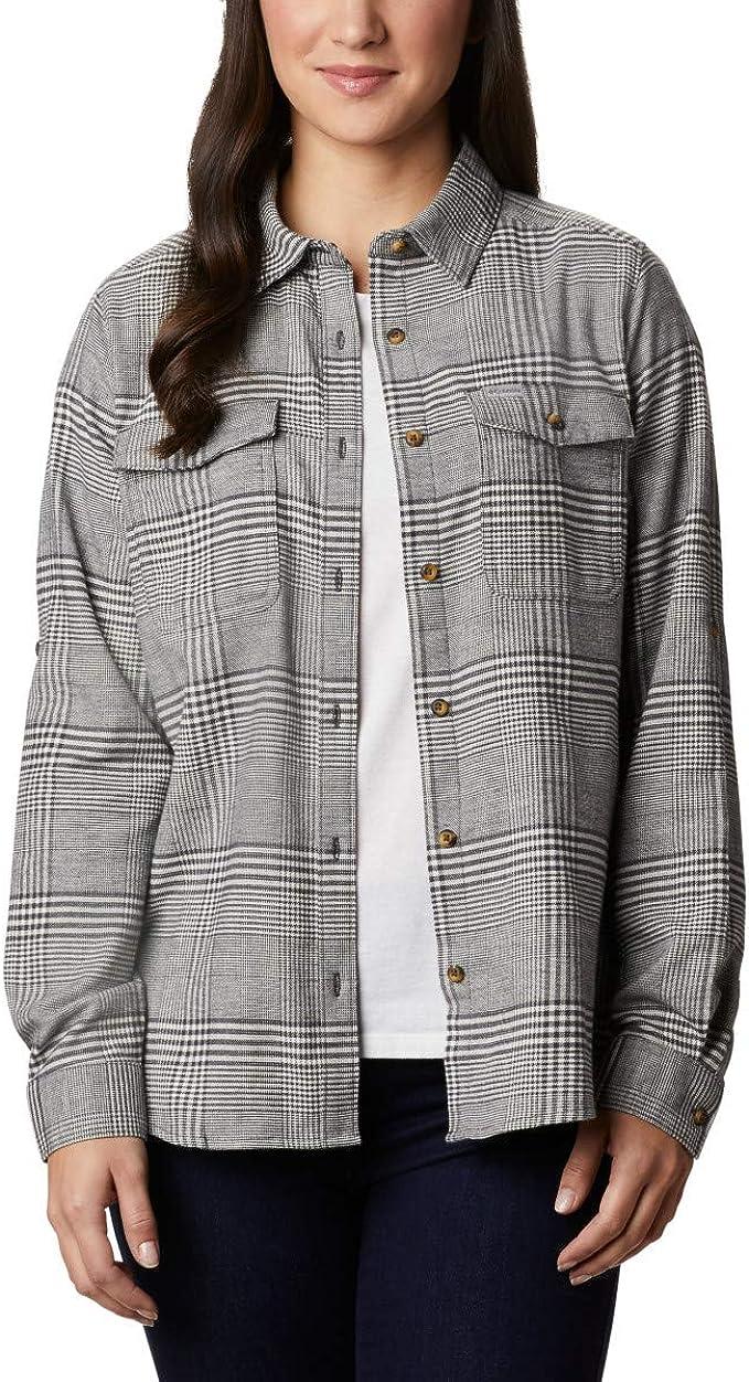 Columbia 哥伦比亚 Pine Street 女式法兰绒长袖衬衫 XS码2.5折$12.53 淘转运到手约¥111