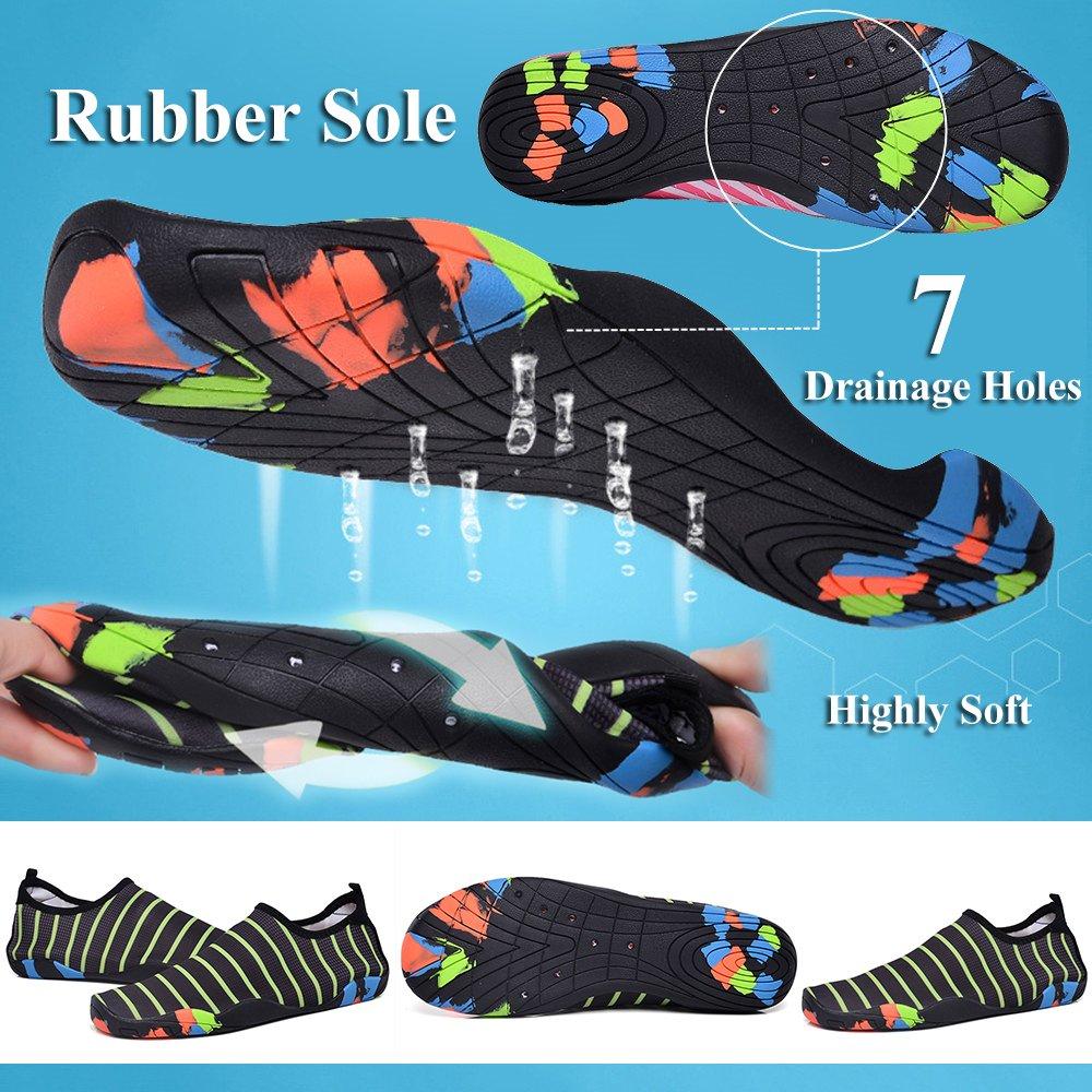 GAXmi Women Water Shoes Men Quick Drying Barefoot Aqua Beach Shoes for Swimming Surfing Yoga