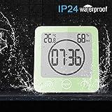 Sunsbell Shower Wall Clock Waterproof Digital