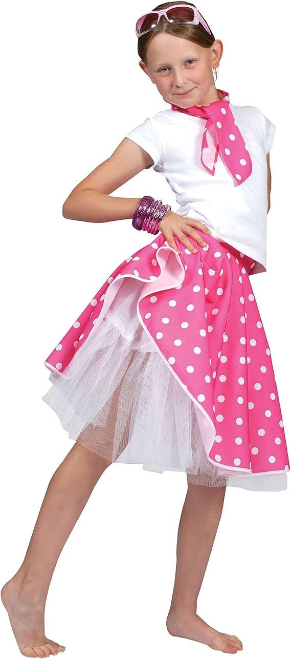 Desconocido Falda rock n roll para disfraz de niña| color rosa ...