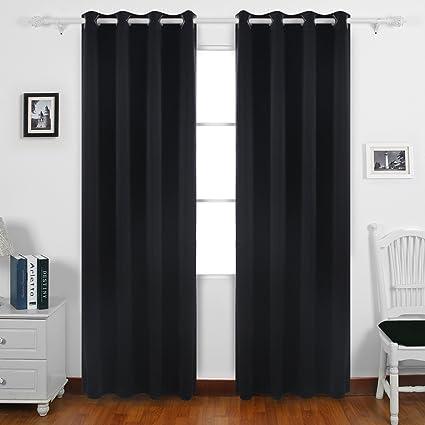 Amazon Deconovo Solid Grommet Top Curtains Blackout Curtains