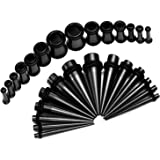 Gauges Kit 28 Tapers and Plugs Stainless Steel Tunnels 12G, 10G, 8G, 6G, 4G, 2G, 0G Ear Ear Stretchers