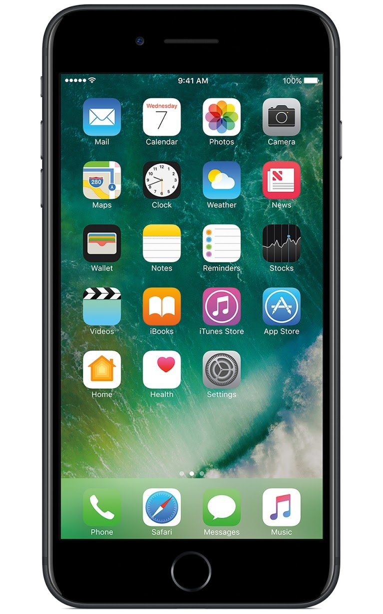 Apple iPhone 7 Plus, AT&T, 32GB - Black (Certified Refurbished) by Apple (Image #1)