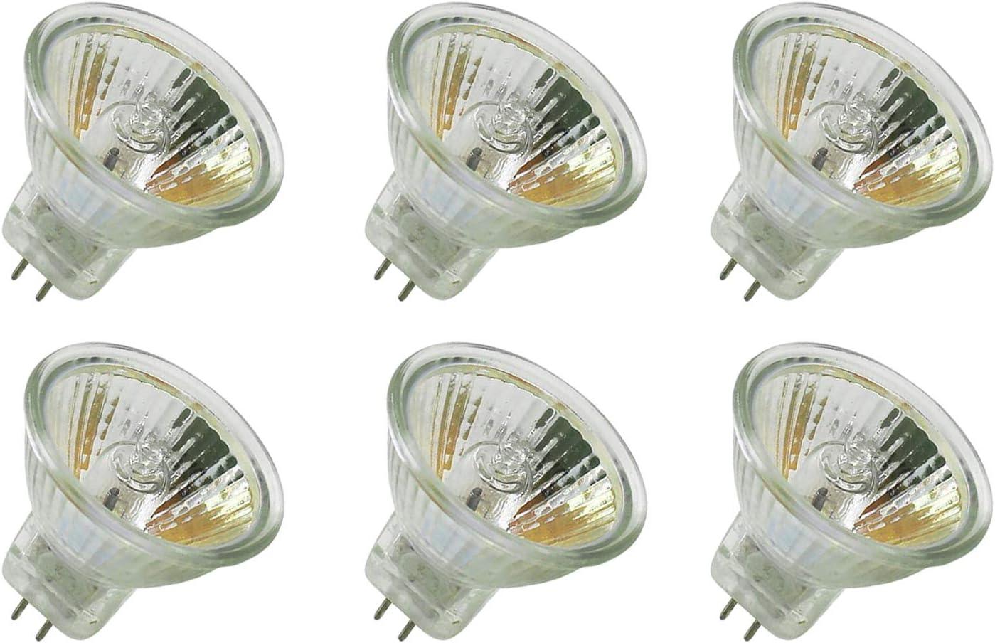 CTKcom Halogen Light Bulbs(6 Pack)- MR11 12Volt 20Watt, 30 Degree Beam Spread Precision Halogen Reflector Fiber Optic Light Bulb 20W 12V,6 Pack