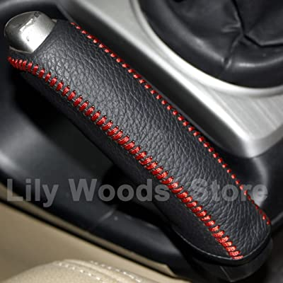 Black Genuine Leather Handbrake Cover for Honda Civic Old Civic 2006 2007 2008 2009 2010 2011: Automotive