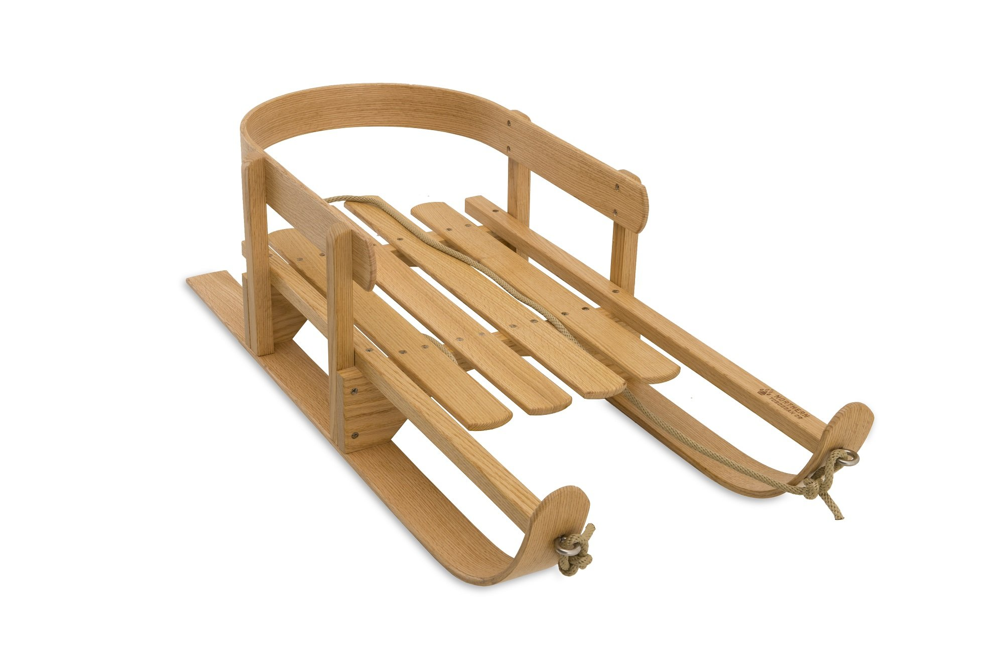 Wooden Pull Sled by Northern Toboggan Co