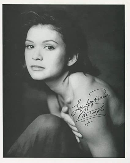 Nia Peeples Signed Sexy Younger Topless 8x10 Photo With COA pj