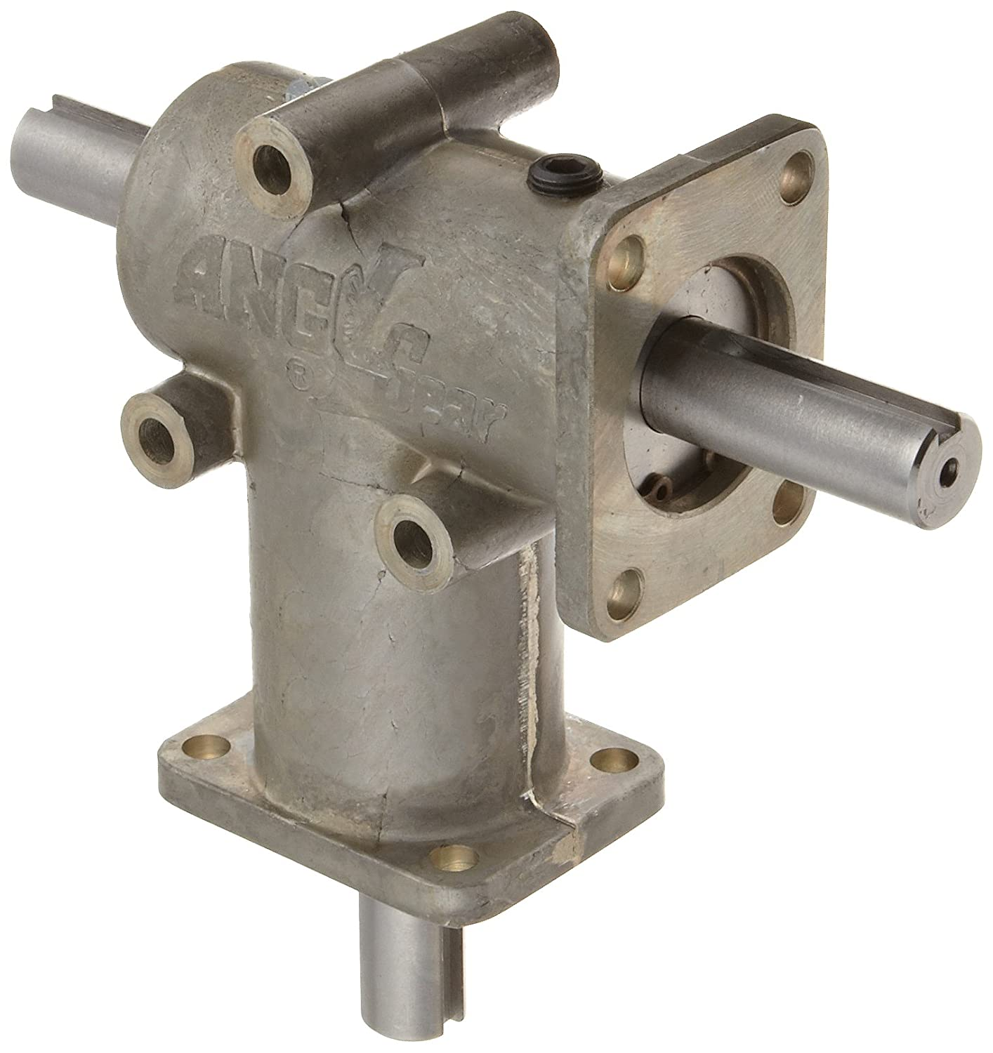 Andantex R3300 Anglgear Right Angle Bevel Gear Drive, Universal Mounting, Two Output Shafts, 2 Flanges, Inch, 5/8' Shaft Diameter, 1:1 ratio, 1.21 Hp at 1750rpm 5/8 Shaft Diameter