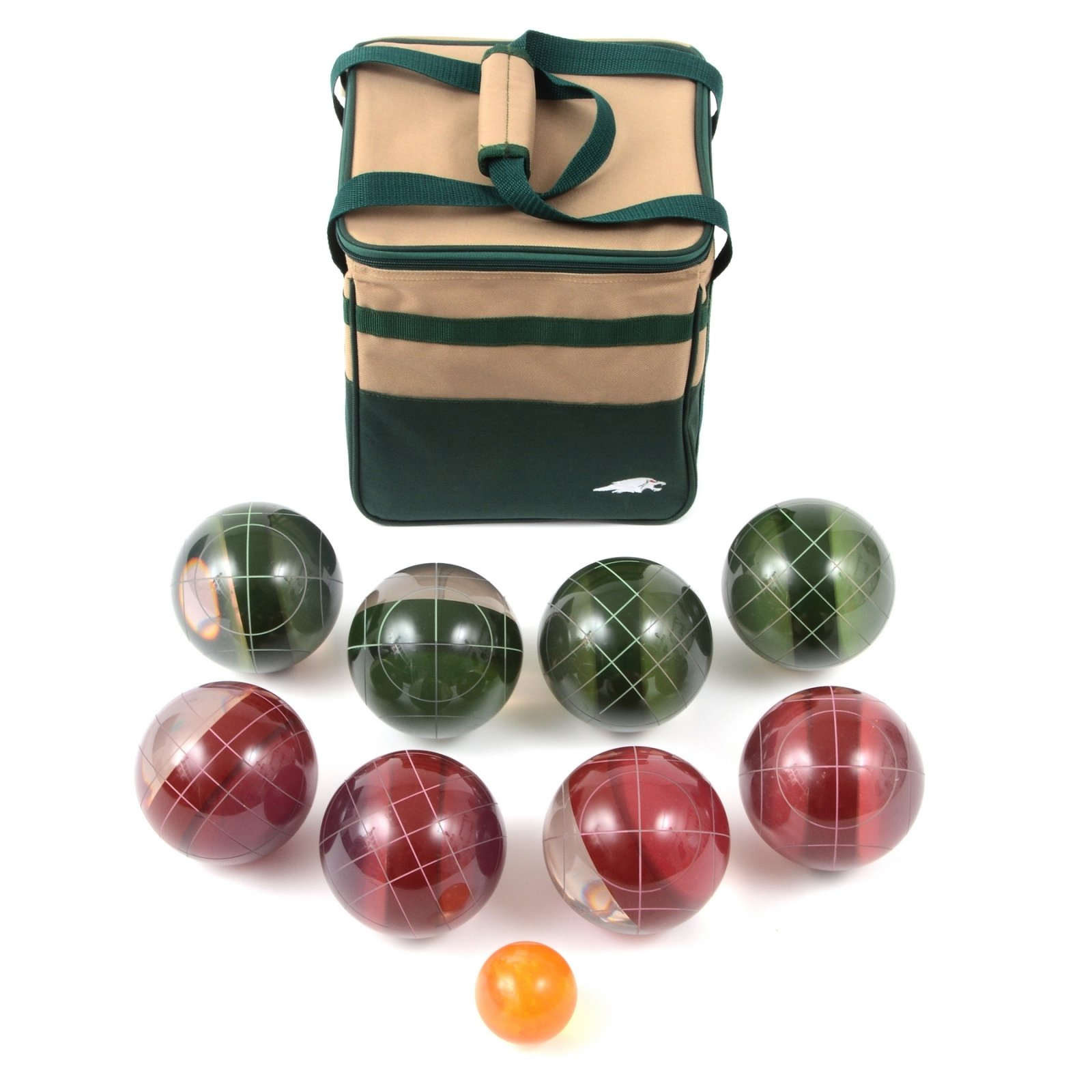 Lion Sports Clear 107 MM Tournament Resin Bocce Set in PVC Carry Bag