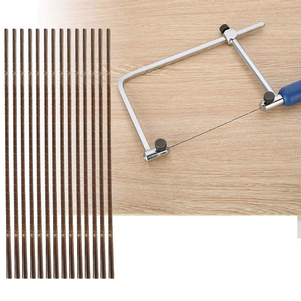Jeweler's Piercing Saw Blade Set, 144Pc Saw Blades Jeweler Metalworking Metal Cutting Jewelry Repair Cutting Metal Tools 1/0-8/0(5/0) by Salmue