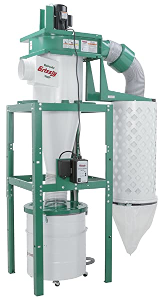 Grizzly G0441 3 Hp Cyclone Dust Collector Vacuum And Dust