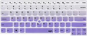 Keyboard Skin Compatible with ThinkPad X1 Carbon 2018/2017, ThinkPad X1 Extreme 2018, X1 Extreme Gen 2, ThinkPad A285 T490 T490s T480 T480s L480 L490 L390 E480 E485 E490 E495 Laptop - Gradual Purple