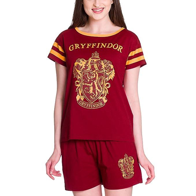 pijama pijamas de las mujeres Harry Potter Gryffindor de algodón rojo Elbenwald - S