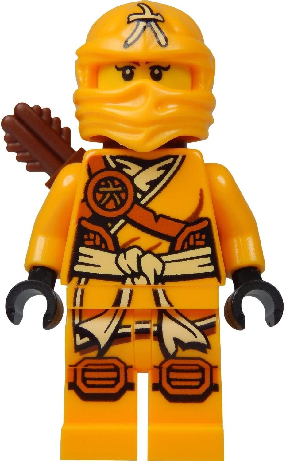 LEGO Ninjago Minifigure - Skylor Female Orange - Gold Ninja with Crossbow and Quiver (70746)