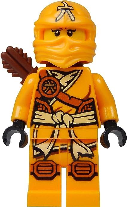 LEGO Ninjago Minifigure - Skylor Female Orange - Gold Ninja with Crossbow and Quiver (70746)