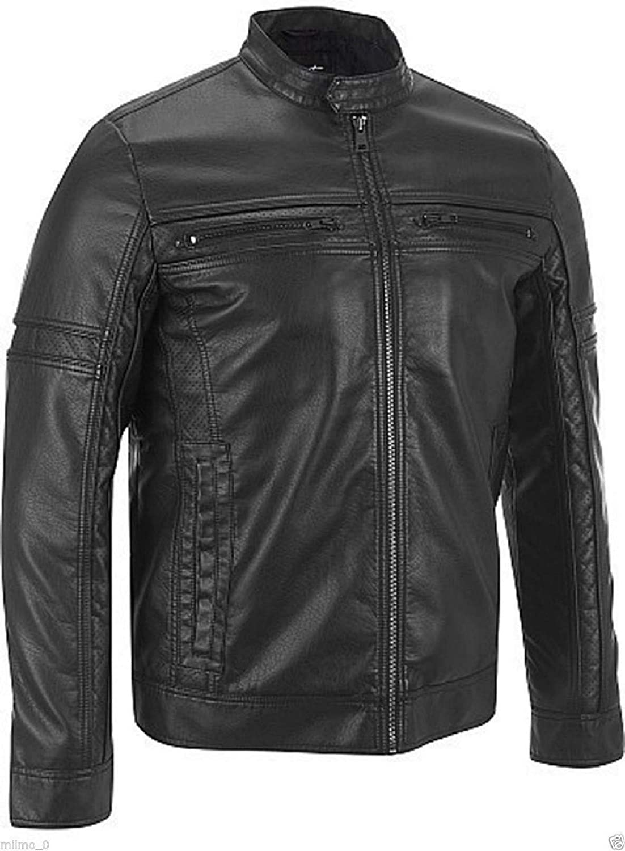brandMe Mens Genuine Leather Pure Lambskin Biker Jacket MM453