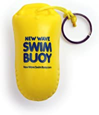 New Wave Swim Buoy New Wave Floating Key Chain Buoyant Camera Float for Open Water Swimmers and Triathletes