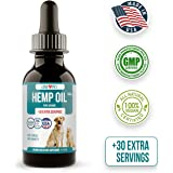 Hemp Oil for Dogs and Cats — 500 mg — Provides Anxiety Relief — Natural Support for Hip & Joint — Better Mood and Sleep — 100% Organic Treat and Food Supplement Grown and Extracted in USA for all Pets